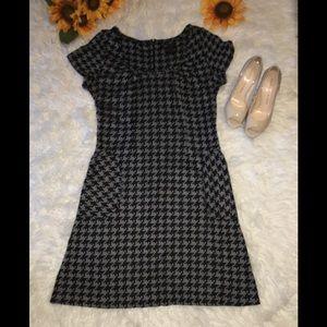 BCBG Black and Gray Dress Sz Large New